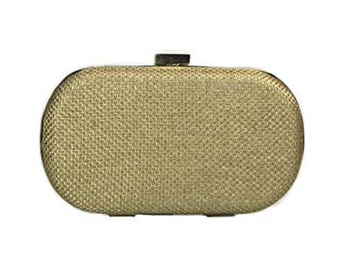 Basic Oval Box Bag Gold