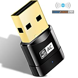 Heiyo Dual Band Wireless Adapter,600Mbps 802.11ac Mini USB Wi-Fi LAN Networking Dongle with SoftAP & WPS for Computer,Laptop and Desktop,Support Windows XP/VISTA/Win7/Win8/Win10/Linux/Mac and Others