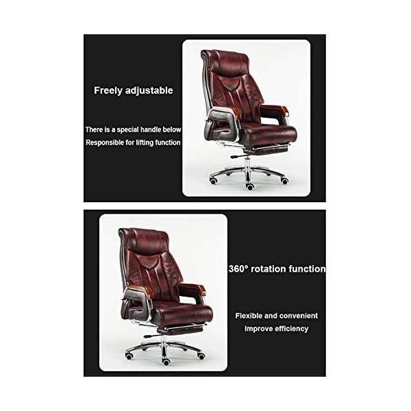 WYYH Chaise De Bureau avec Accoudoi, Réglable Couché avec Repose-Pieds Fauteuil De Bureau Ergonomique Peut Pivoter à 360…