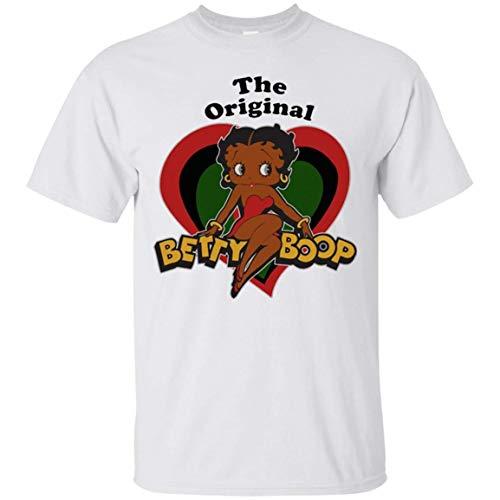 I Love My Black Skin, The Original Betty Boop Unisex White T-Shirt