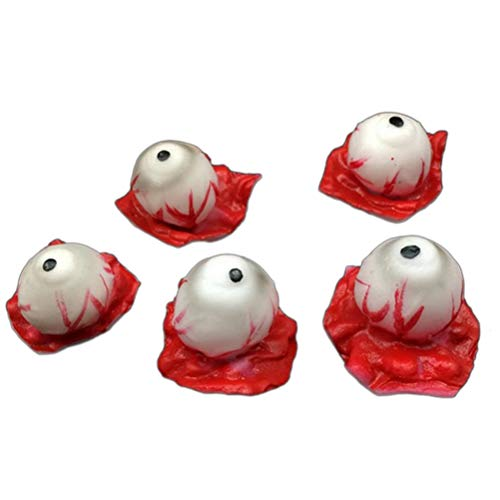 BERTERI 10Pcs Horror Fake Eyeball Halloween Scary Body Parts Eye Horror Props Party Decoration -