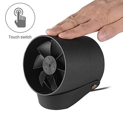 iCoco Mini USB Ventilador, ventilador de mesa ajustable velocidad ...