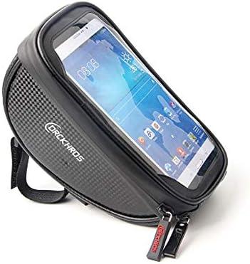 Bicicletas FrameBag Smartphone bolsa grande capacidad de almacenamiento a prueba de agua pantalla táctil de montaña en bicicleta por cualquier paquete Móvil por debajo de 6,0 pulgadas,Negro,Sunvisor: Amazon.es: Deportes y aire libre