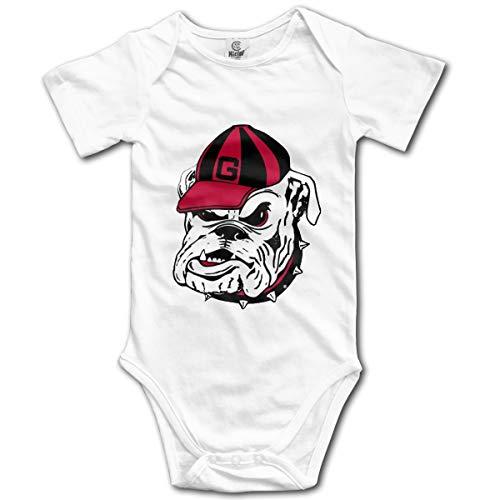 Georgia Bulldogs Logo Funny Baby Boys Girls Onesie Bodysuit Infant Romper Jumpsuit White