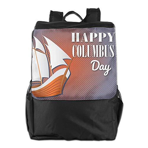 Columbus Mochila Day con para para Libre Personalizada y Viaje Hombres diurno para School Hombro Correa Happy Mujeres al Camping Almacenamiento Aire HSVCUY el Ajustable zv4qdz