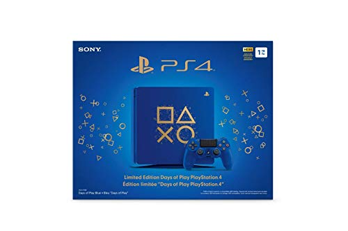 Playstation 4 Slim 2TB SSHD Limited Edition Days of Play Blue Console with Controller Bundle Enhanced with Fast Solid State Hybrid Drive 4