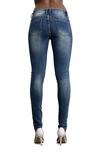 Jeans Lustychic Flower With Donna Blue Navy Design Pxqwg6px
