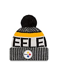 240ec02c0 ... closeout pittsburgh steelers new era 2017 nfl sideline on field sport  knit hat black 445fb 2afec