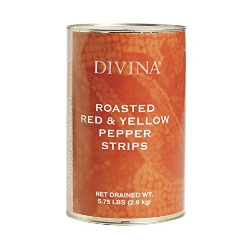 Divina Roasted Red and Yellow Pepper Strips - 5.8 Pounds