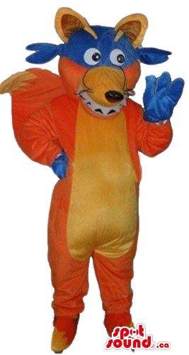 Swiper Costume (Red fox Swiper cartoon character SpotSound Mascot US costume fancy dress)