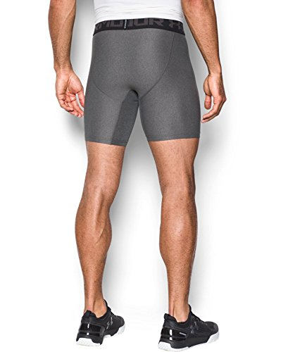 Under Armour Men's HeatGear Armour 2.0 Mid Shorts, Carbon Heather (090)/Black, Small by Under Armour (Image #1)