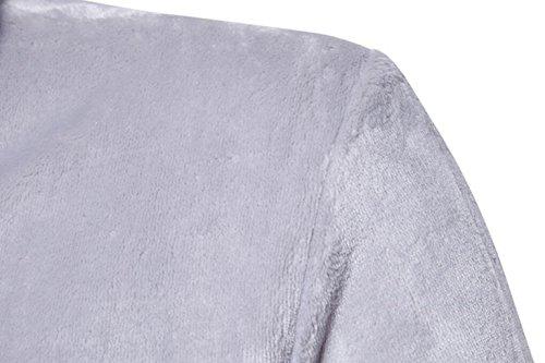 Brown Camicia E Morbido Autunno In Notte Dafrew Pigiama Nero Abbigliamento Confortevole L Pile Di Inverno Uomini Da Dimensioni Casa colore Corallo accappatoio qw5n1B