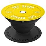 Yelllow Bumper Plate Weights for Fitness PACG004 - PopSockets Grip and Stand for Phones and Tablets