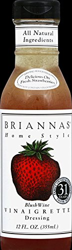 Briannas Home Style Dressings Blush Wine Vinaigrette -- 12 fl oz, Pack of 2