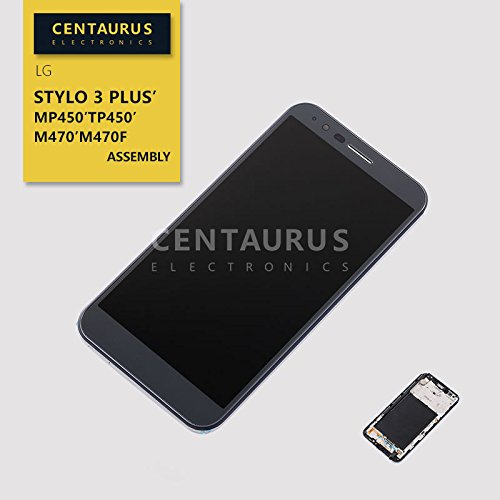 Assembly for LG Stylo 3 Plus MP450 TP450 M470F M470 5.7'' Full LCD Display Touch Screen Digitizer + Silver Frame Replacement Parts