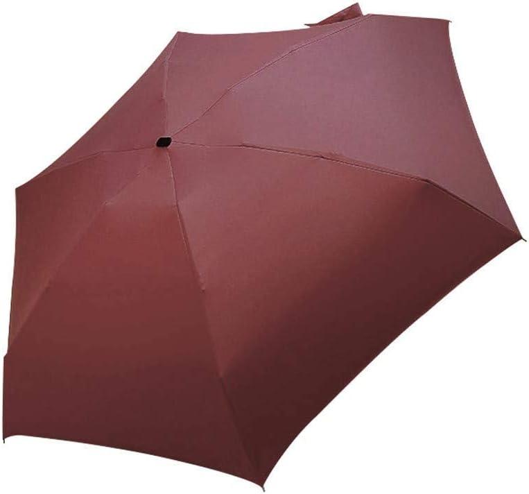 5 Pliage Compact Poche Parapluie Parasol pour Femme Homme Filles Gar/çon Enfants JIJI886 Ultra L/éger et Petit Voyage Anti-UV Mini Parapluie Rouge