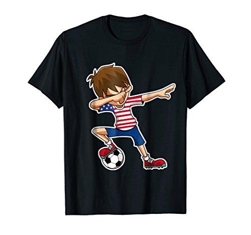 Dabbing Soccer Boy USA Shirt, American Flag Jersey