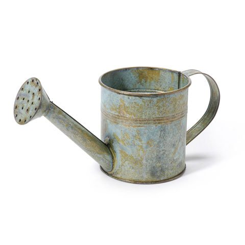 Metal Watering Can - Antique Gray - 8.25 - Tin Watering Can