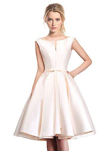 LD DRESS Women's Bridesmaid A-line Evening Gown Party dress (M, Light Champagne) ()