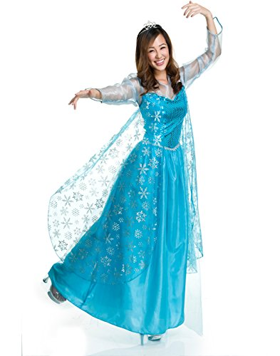 Charades Women's Ice Queen Costume, Blue,