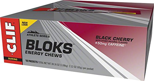 Clif Shot Bloks, Black Cherry, 2.12 oz (Pack of 18) (Cliff Block)