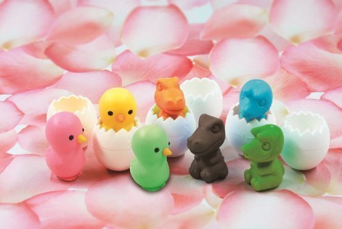 Chicken Dinosaur Erasers Color Iwako product image