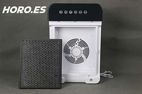 Filtro CARB/ÓN purificador de Aire para Personas al/érgicas Eficiente para Espacios de 35m/³ hasta 50m/³ HORO.ES Purificador de Aire con Filtro HEPA