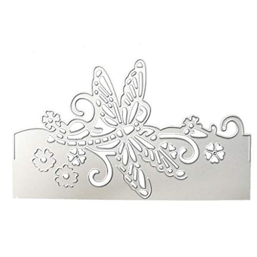 Itlovely Butterfly Envelope Greeting Card Metal Cutting Dies Stencil Scrapbooking Photo Album Card Paper Embossing Craft DIY