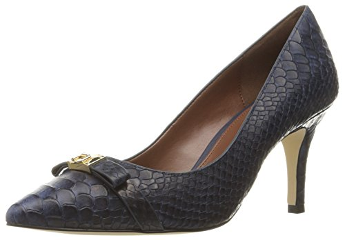 Cole Haan Women's Juliana Detail Dress Pump, Marine Blue Snake Print, 10 B US (Juliana Haan 75 Cole)