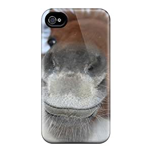 Brand New 4/4s Defender Case For Iphone (animals Horses Red Haired Pony)