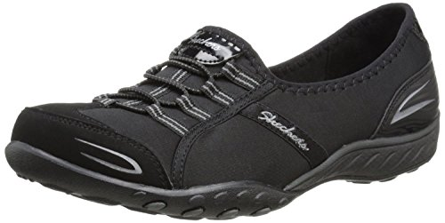 Skechers Sport Women's Good Life Fashion Sneaker, Black/White, 8.5 M US