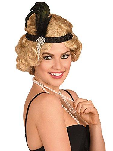 1920s Satin Charleston Flapper Headband Festive Ball Accessory Old School Style Head Wear for Party Stage Show or - Headwear Charleston