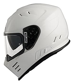 Simpson Venom casco, color blanco, talla 2 X L