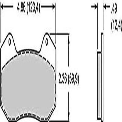 Image of Brake Pads Wilwood 150-10006K Pad Set (Bp-10 6712, Dynapro 6)