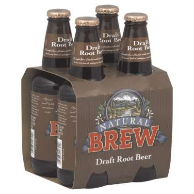 (Natural Brew Soda, Draft Root Beer, 12 Oz, 4 Count per Case (Pack of 6) )