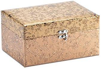 Decorado de la joyería caja de almacenamiento de caja de la ropa canasta dorado y plateado de techo, diseño de nueva, dorado, pequeño: Amazon.es: Hogar