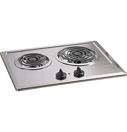 Amazon.com: Ge JP201CBSS - Cocina eléctrica (21 pulgadas, 2 ...