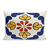 Aikul Pillowcase Colorful Spanish Mexican Talavera Double Sided Throw Southwest Pillowcases Bedding Decoration pillowslip Standard Size 20 x 26 inchs Throw Pillow case Covers
