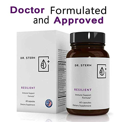 (Resilient - Natural Immune System Support - Dr. Formulated to Boost Your defenses - W/Organic Mushroom Blend, Echinacea, Astragalus, Oregano & More - Vegan - Made in USA- 60 Capsules)