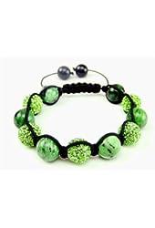 Green Ruby Lights shamballa bracelet | Green Crystal Pave Argil | Green Shamballa inspired bracelet | Unisex (By BAGATI CRYSTO)