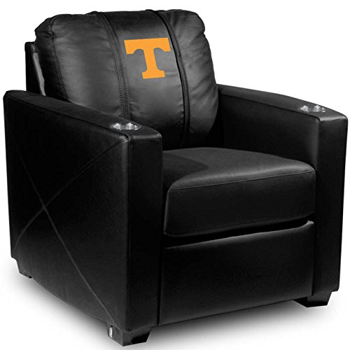XZipit College Silver Chair with Tennessee Volunteers Logo Panel, Black