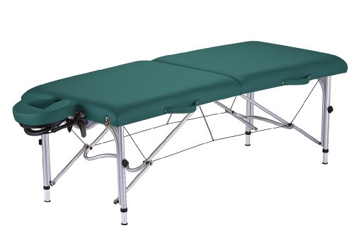 (EARTHLITE Luna Portable Massage Table Package - Lightweight, Aluminum Frame (26lb) incl. Face Cradle & Carry Case for up to 600lb )