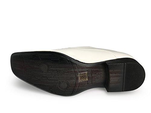 Enzo Romeo Eric Heren Jurk Instappers Elastische Slip Op Mode Schoenen Casual Chic Wit