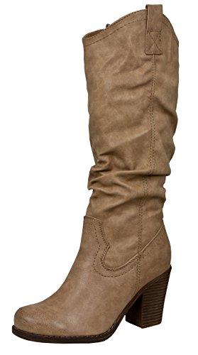 Damen Winter Schuhe Boots Damenstiefel Winterstiefel Grün