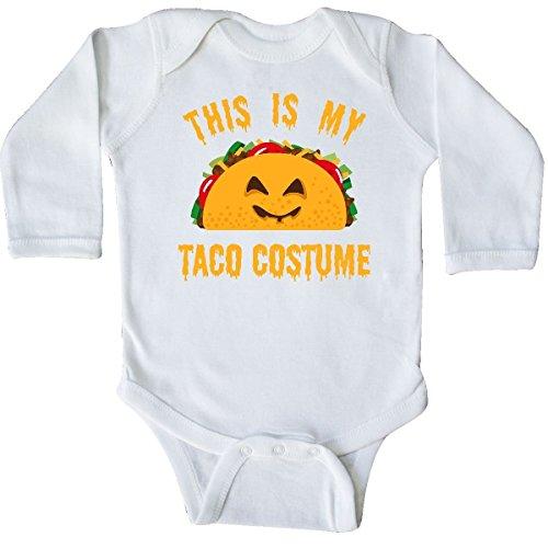 inktastic - Taco Costume Long Sleeve Creeper Newborn White 3171b -
