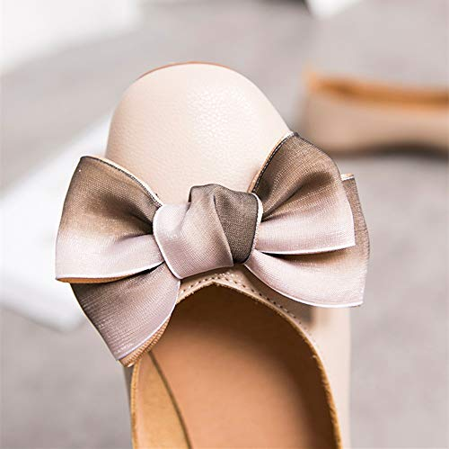 autumn single women and bow shallow shoes mouth FLYRCX pregnant EU ladies sweet 39 office shoes flat shoes Spring shoes work XqCx4w7nEF