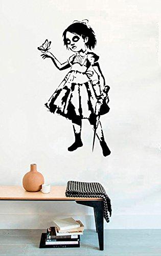 Gamer Vinyl Wall Decals Bioshock Little Sister Halloween Video Game Play Vinyl Decor Stickers MK5260 -