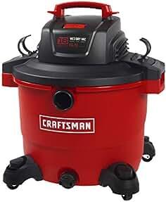 CRAFTSMAN 17595 16 Gallon 6.5 Peak HP Wet/Dry Vac, Heavy-Duty Shop Vacuum with...