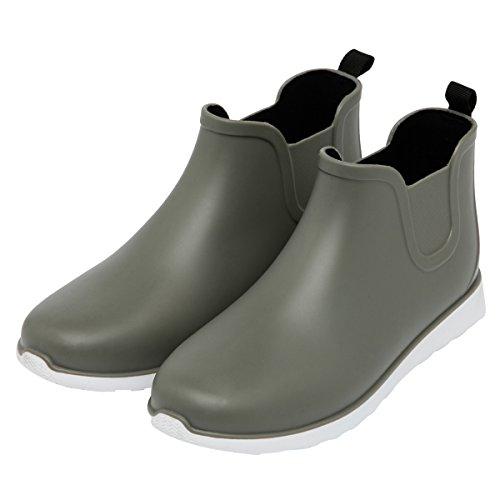 Kjære Tiden Menn Regn Boot Slip-on Flate Ankelstøvletter Vanntette Sko Hær Grønn Komfort