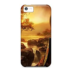 Cynthaskey Iphone 5c Hybrid Tpu Case Cover Silicon Bumper Wallpaper by icecream design